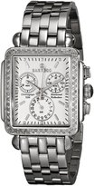 Sartego Women's SDWT391S Diamond Fashion Square Shape Chronograph