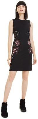 Desigual Denis Short Bodycon Dress with Paisley Print