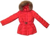 Max Mara Red Polyester Coat