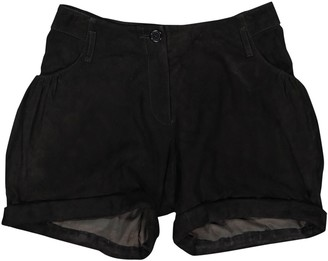 Givenchy Black Suede Shorts for Women