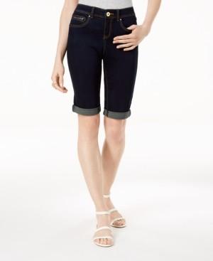 INC International Concepts Inc Curvy-Fit Tikglo Cuffed Denim Shorts, Created for Macy's