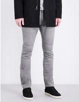 John Varvatos Slim-fit tapered motorcycle jeans