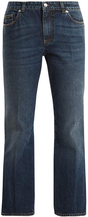 Alexander McQueen Mid-rise cropped kick-flare jeans