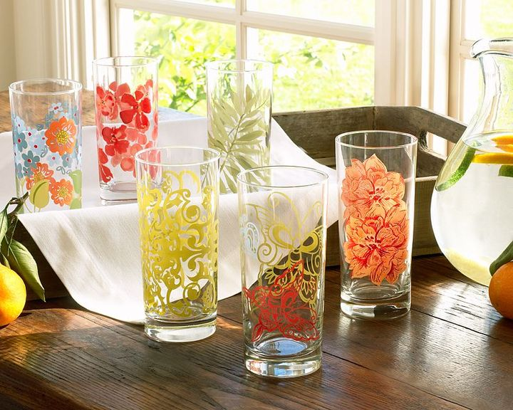 Pottery Barn Graphic Garden Tumblers