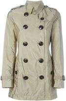 Burberry 'Kerringdale' double-breasted raincoat - women - Leather/Polyamide/Polyester/Cupro - 10