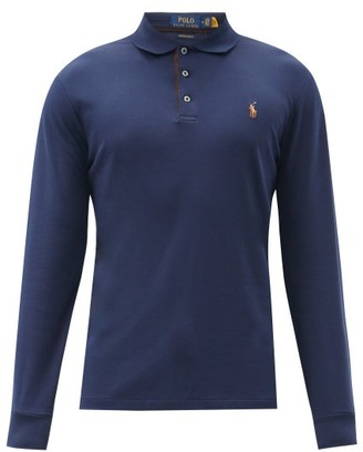 Polo Ralph Lauren Custom Slim-fit Cotton Long-sleeved Polo Shirt - Navy