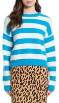 Diane von Furstenberg Women's Stripe Baseball Sweater