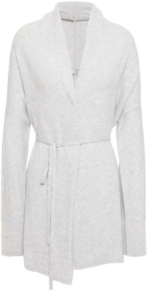 Vince Belted Wool And Cashmere-blend Cardigan