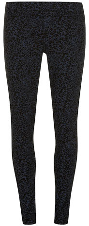 Dorothy Perkins Blue swirl printed jegging