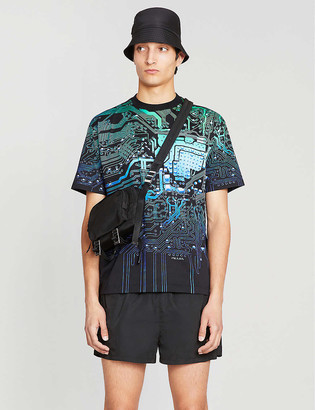 Prada Graphic-print cotton-jersey T-shirt