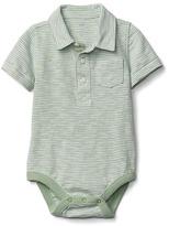 Pocket slub polo bodysuit