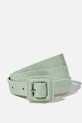 Supre Square Buckle Croc Belt