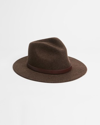 Brixton Brown Hats - Messer Fedora - Size L at The Iconic