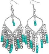 Riah Fashion Turquoise Chandelier Dangle Earrings