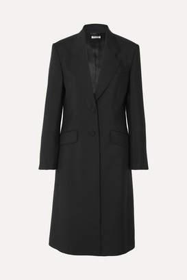Miu Miu Mohair And Wool-blend Coat - Black