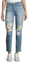 Joe's Jeans Debbie Crop Distressed Straight-Leg Jeans, Indigo