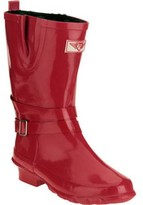 Forever Young Women's Short Strapped with Buckle Rain Boot