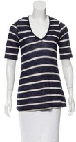 Boy By Band Of Outsiders Striped V-Neck Top