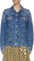 Mother 'The Buttoned Up Drifter' sleeve button denim jacket