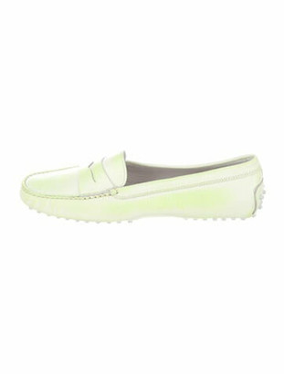 Tod's Leather Loafers Green