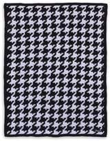 NoJo Roar Houndstooth Knit Blanket in Black/White
