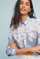 Maeve Rosalee Silk Buttondown Shirt