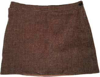 A.P.C. Brown Wool Skirts