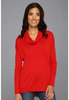 Vince Camuto L/S Cowl Neck Tunic (Rouge) - Apparel