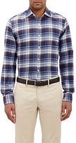Piattelli MEN'S PLAID HERRINGBONE-WEAVE SHIRT
