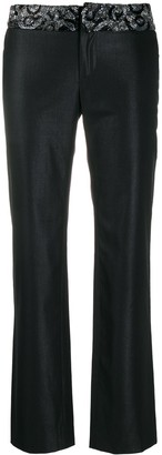 Versace Pre Owned Crystal Bead Detailed Trousers