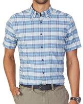 Nautica Men's Classic Fit Anchor Plaid Short Sleeve Shirt