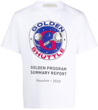 Golden Goose Golden Shuttle print T-shirt