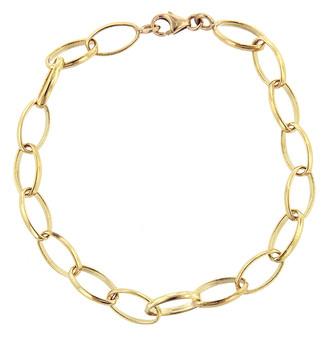 Jennifer Meyer Medium Edith Link Bracelet - Yellow Gold