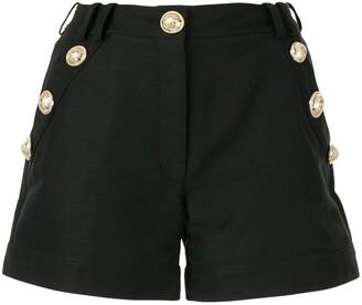 Balmain embossed button shorts
