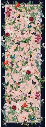 Pj Studio Accessories. Fleurs d'Orleans - Soft Pink Wool Silk