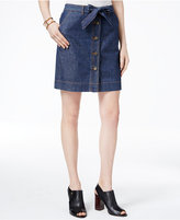 Tommy Hilfiger Button-Front Denim Skirt, Only at Macy's
