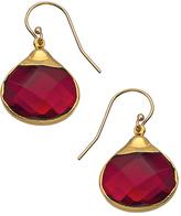 Janna Conner Designs Gold and Garnet Quartz Drop Earrings