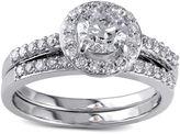 JCPenney MODERN BRIDE 1? CT. T.W. Diamond 10K White Gold Bridal Ring Set