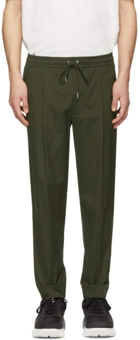 Moncler Khaki Tapered Sportivo Trousers