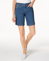Charter Club Tummy-Control Denim Shorts, Only at Macy's