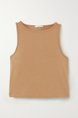 Vince Cropped Cotton-jersey Tank - Sand