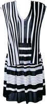 MSGM V neck striped dress - women - Viscose - 38