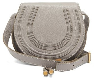 Chloé Marcie Mini Grained-leather Cross-body Bag - Grey