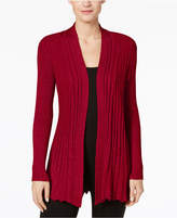 NY Collection Petite Metallic Open-Front Cardigan