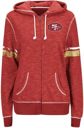 Majestic Women's Scarlet San Francisco 49ers Athletic Tradition Full-Zip Hoodie