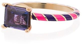 Alice Cicolini 14k Yellow Gold Candy Kimono Violet Blue Sapphire Ring