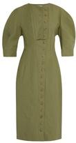 Stella McCartney Round-neck button-through midi dress