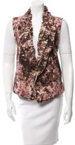 Ann Demeulemeester Virgin Wool Floral Vest