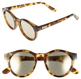 Le Specs Women's Hey Macarena 51Mm Round Sunglasses - Syrup Tortoise/ Gold Mirror
