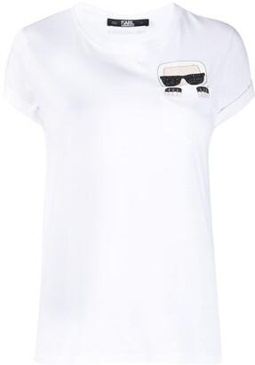 Karl Lagerfeld Paris graphic-print crew neck T-Shirt